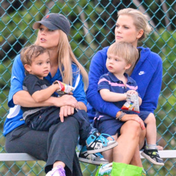 elin nordegren and twin sister make for another sporty