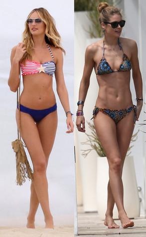 Doutzen Kroes, Candice Swanepoel, Bikini