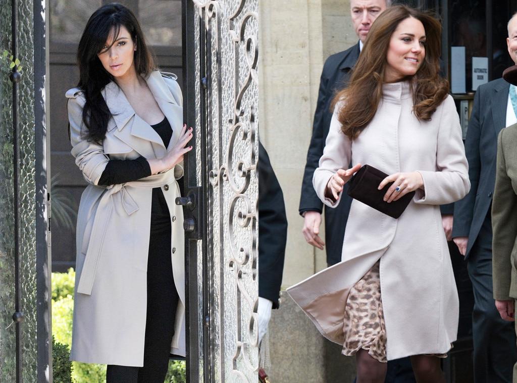 Kim Kardashian, Kate Middleton, Duchess Catherine, Trench