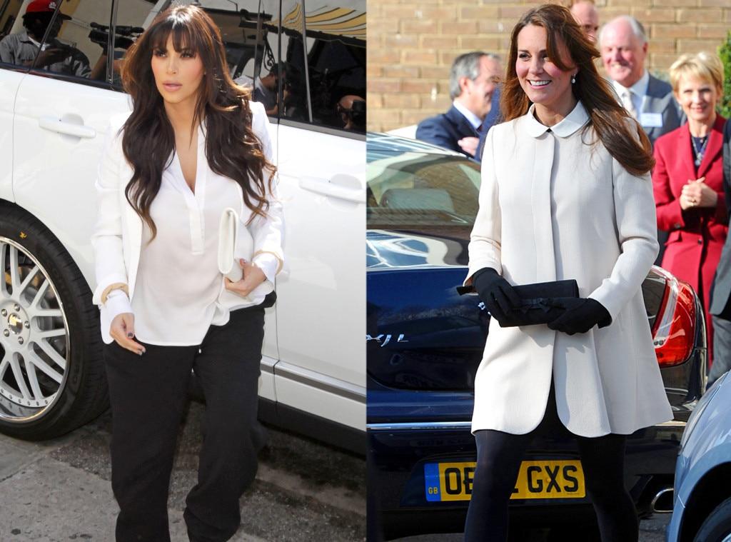 Kim Kardashian, Kate Middleton, Duchess Catherine, Black & White