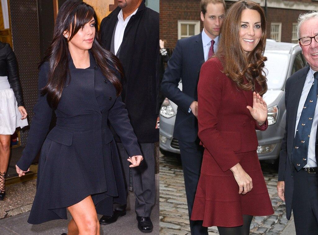 Kim Kardashian, Kate Middleton, Duchess Catherine, Appearance, Feminine Dress