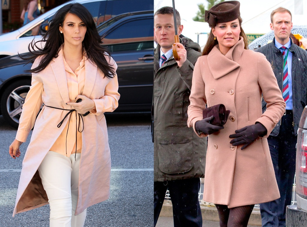 Kim Kardashian, Kate Middleton, Duchess Catherine, Peach