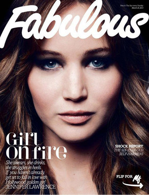 Jennifer Lawrence, Fabulous Magazine Cover