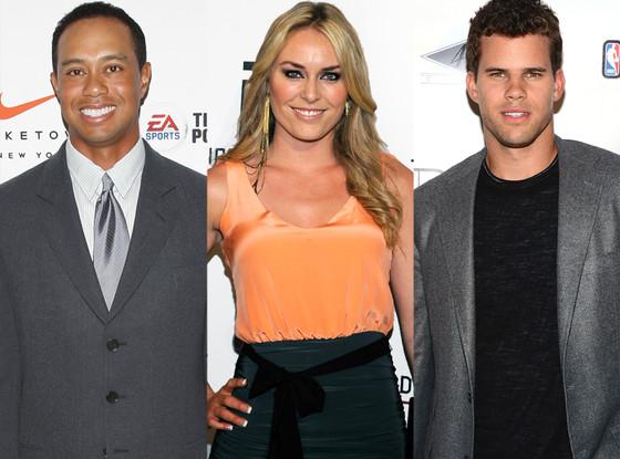 Tiger Woods, Lindsey Vonn, Kris Humphries