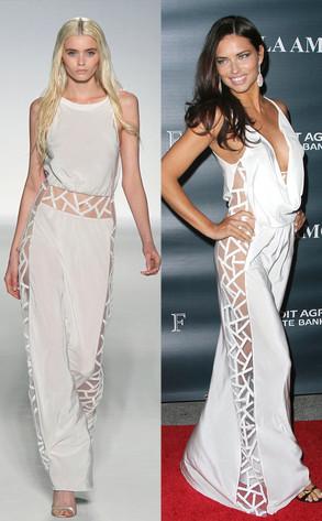 Alberta Ferretti Dress, Adriana Lima