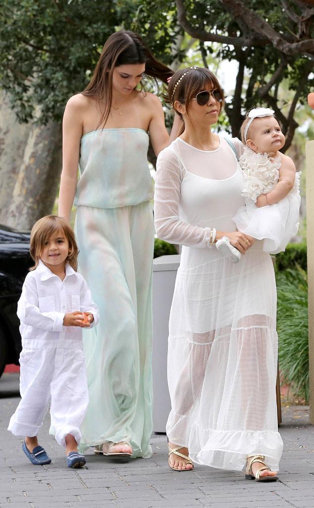 Mason, Penelope, Kourtney Kardashian, Kendall Jenner