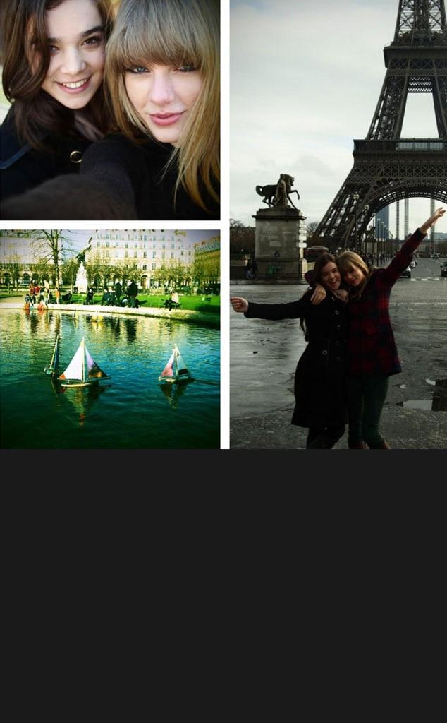 Taylor Swift, Hailee Steinfeld, Paris Twit Pic, Eiffel Tower