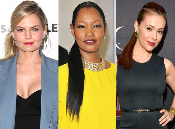 Jennifer Morrison, Garcelle Beauvais, Alyssa Milano, Side Ponytail