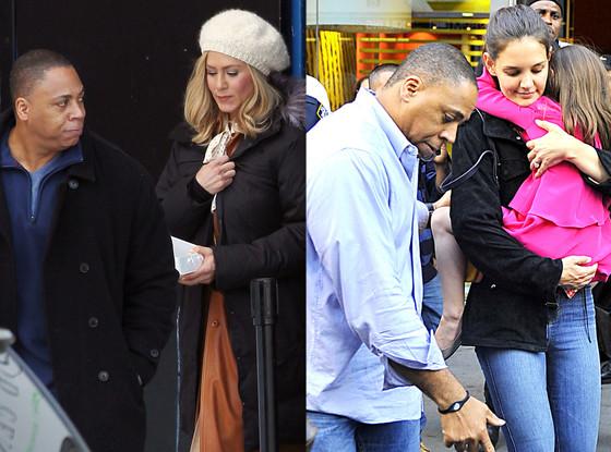Jennifer Aniston, Katie Holmes, Suri, Sheldon, Bodygaurd