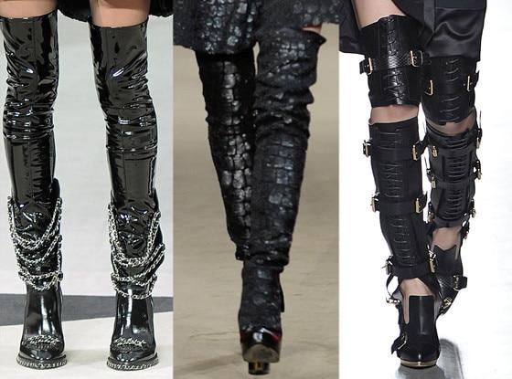 THE Footwear Knee high leg armor