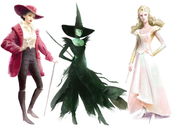 Oz the Great and Powerful Fashion Sketches