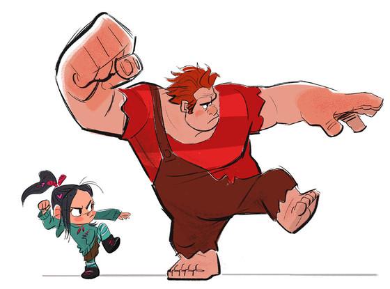 Wreck It Ralph Concept Art