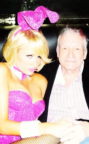 Paris Hilton, Hugh Hefner, Instagram