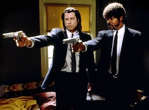 Samuel L. Jackson, John Travolta, Pulp Fiction, Crazy OnScreen Hairdos