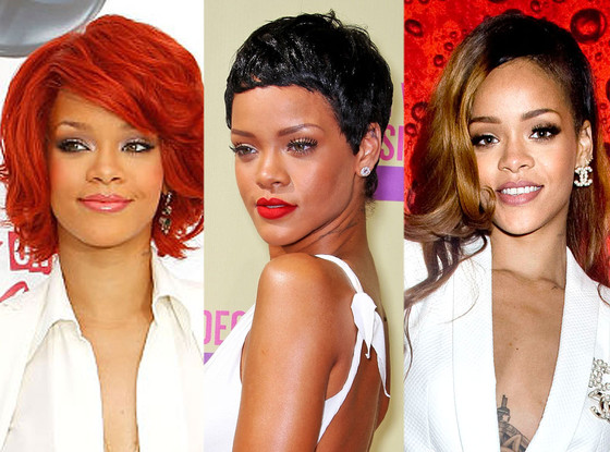 Rihanna's Hair Evolution