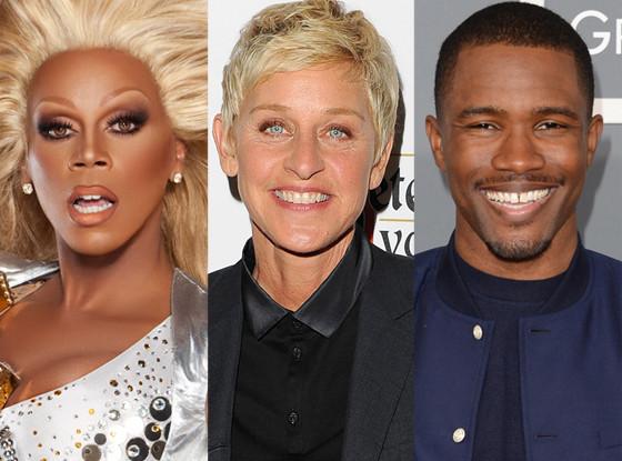 Frank Ocean,  Rupaul, Ellen DeGeneres