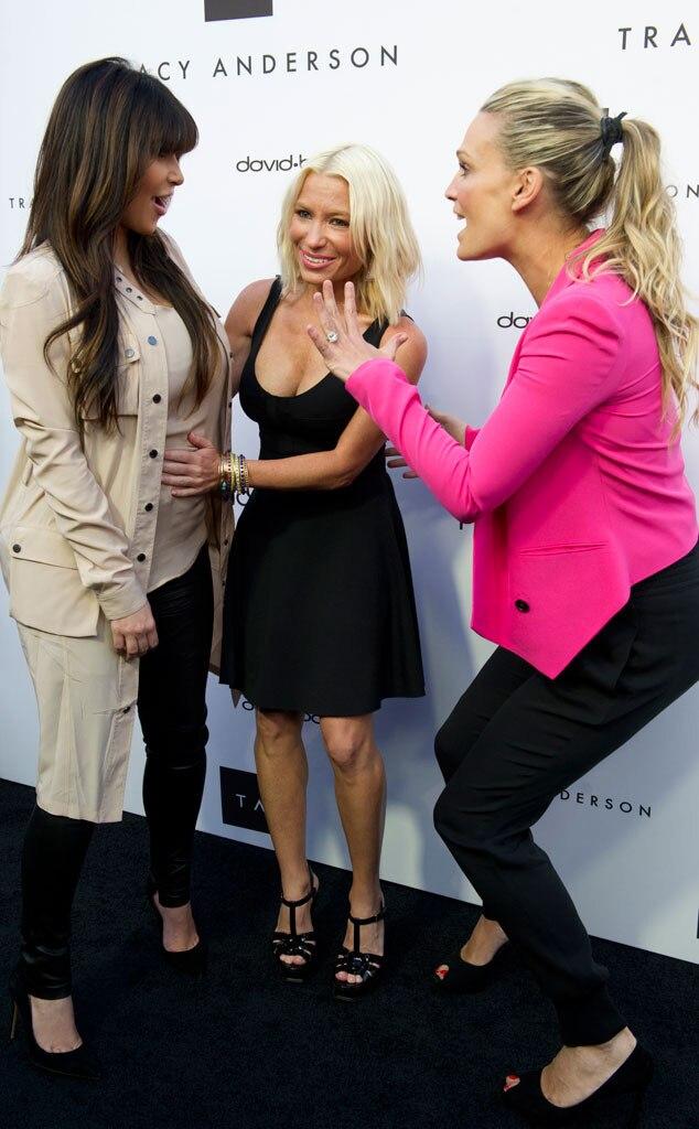 Kim Kardashian, Tracy Anderson, Molly Sims