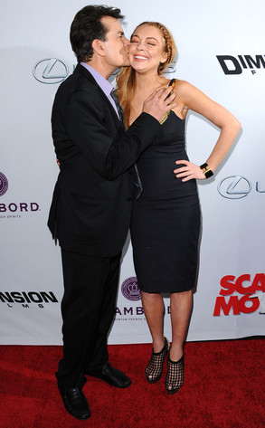 Charlie Sheen, Lindsay Lohan