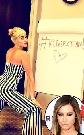Miley Cyrus, Twerk, Twitter, Ashley Tisdale