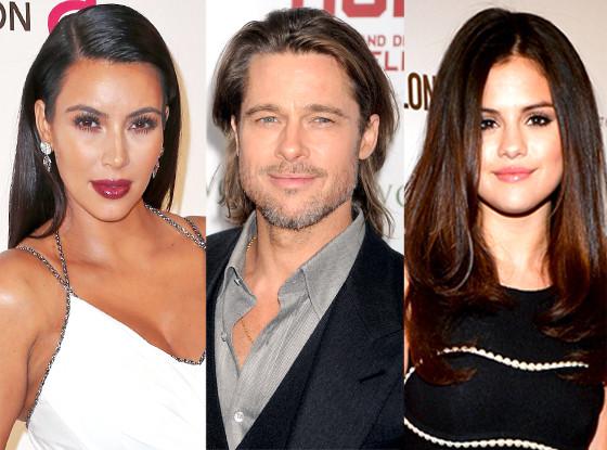 Kim Kardashian, Brad Pitt, Selena Gomez