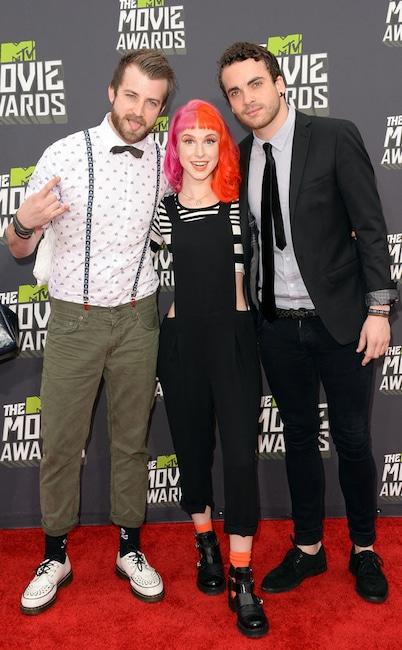 Jeremy Davis, Hayley Williams, Taylor York, Paramore, MTV Movie Awards