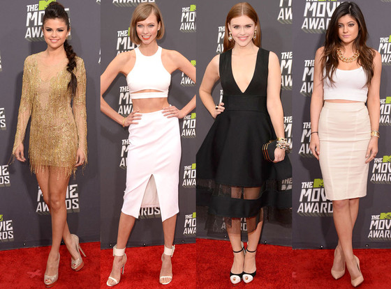 Selena Gomez, Kylie Jenner, Karlie Kloss, Holland Roden, Best Dressed Split, MTV Movie Awards