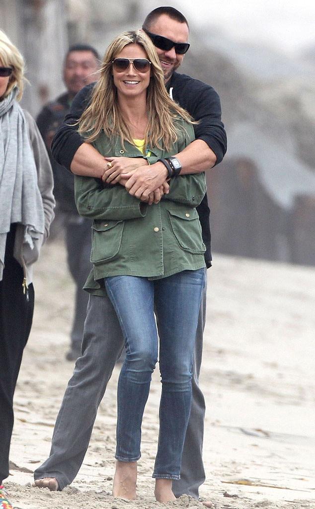 Heidi Klum And Martin Kristen Beach Heidi Klum & Ma...