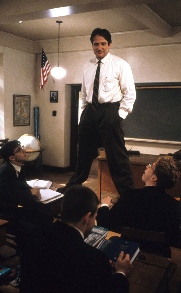 Robin Williams, Dead Poets Society, Onsccreen Teachers