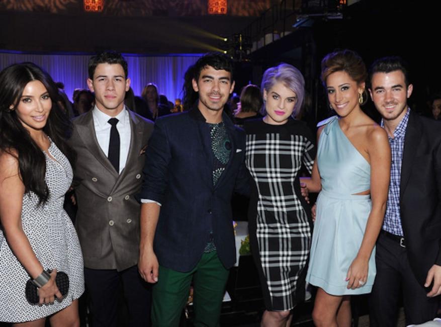 Nick Jonas, Joe Jonas of Married To Jonas, Kelly Osbourne, Danielle Jonas, Kevin Jonas, 2012
