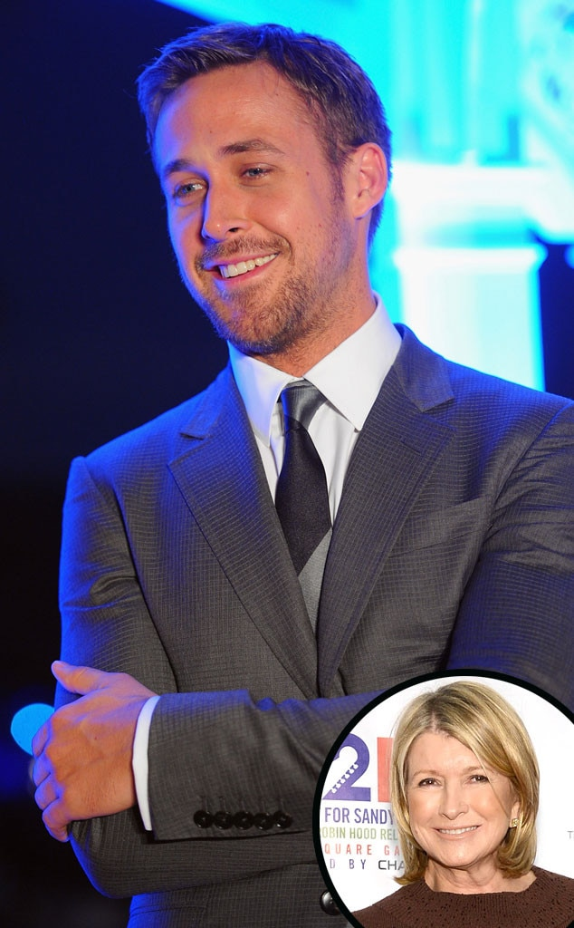 """Martha Stewart -  """"I was into Ryan Gosling for quite a while. I watched every one of his movies,"""" Stewart  revealed to Entertainment Weekly , fingering Ides of March as her favorite of his films."""
