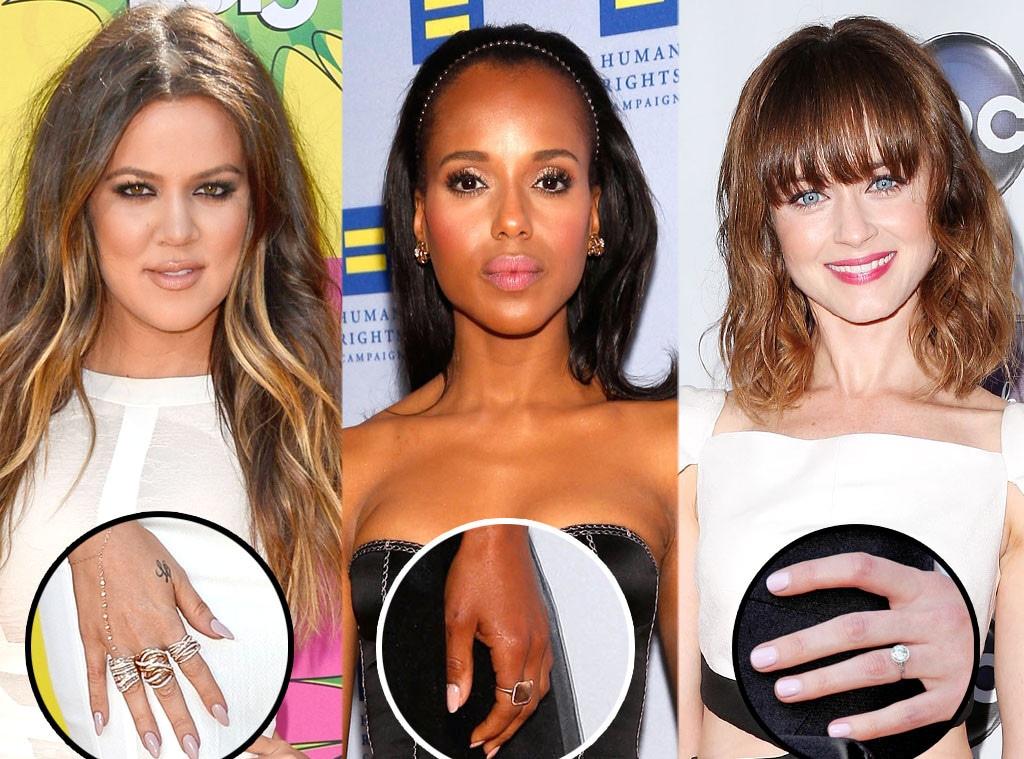Nude Nails, Khloe Kardashian, Kerry Washington, Alexis Bledel