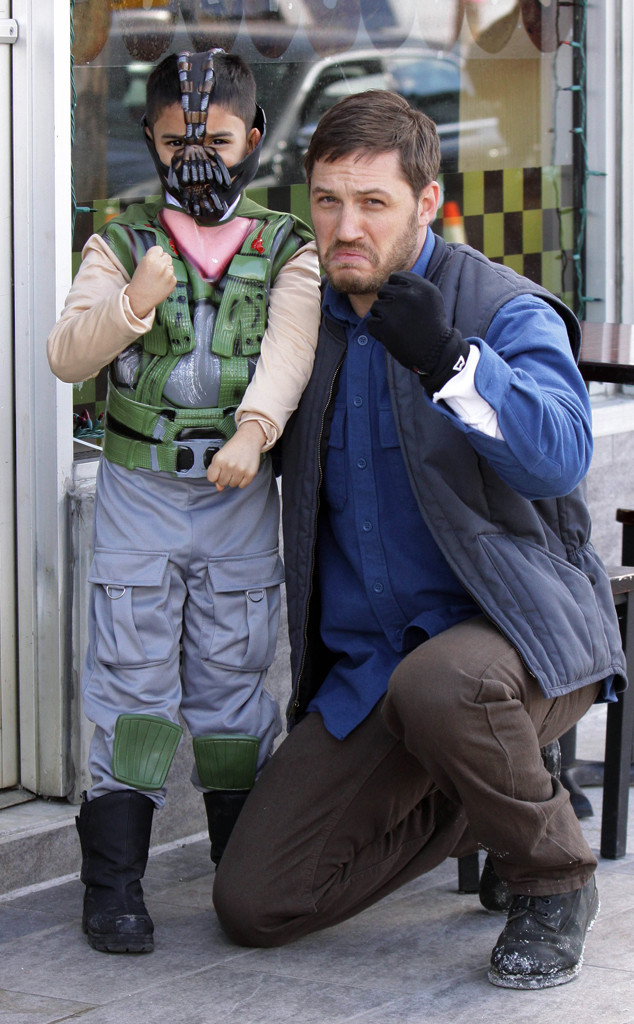 Tom Hardy Poses With A Mini Bane E Online