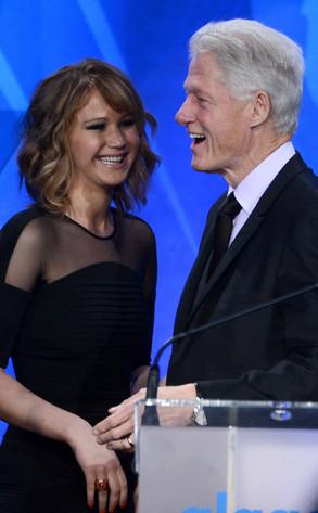 Bill Clinton, Jennifer Lawrence, GLAAD Media Awards