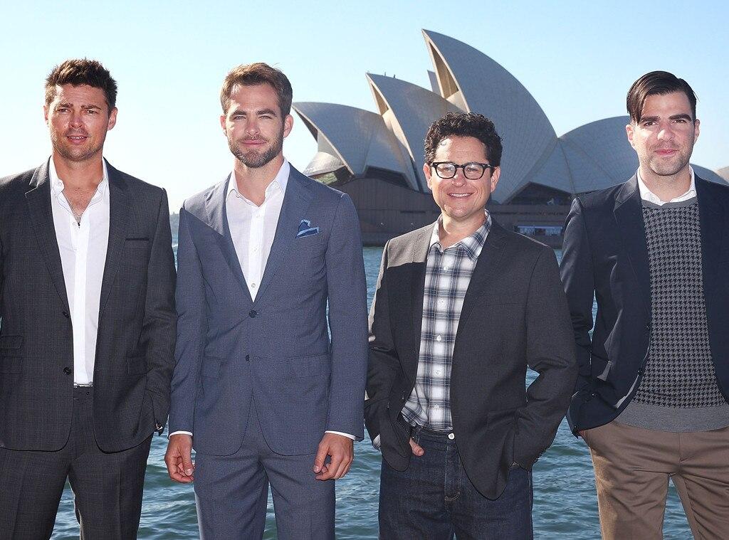Karl Urban, Chris Pine, J.J. Abrams, Zachary Quinto