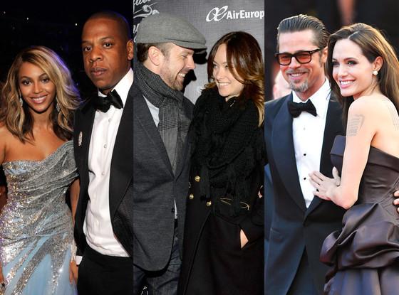 Beyonce, Jay Z, Olivia Wilde, Jason Sudeikis, Angelina Jolie, Brad Pitt