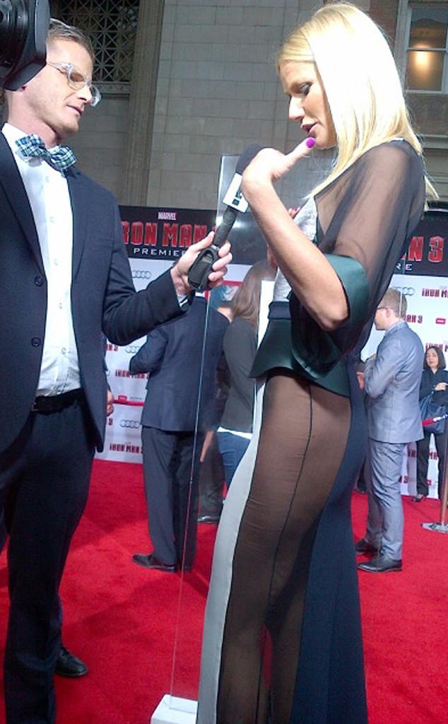 Gwyneth Paltrow, Iron Man 3, Side View