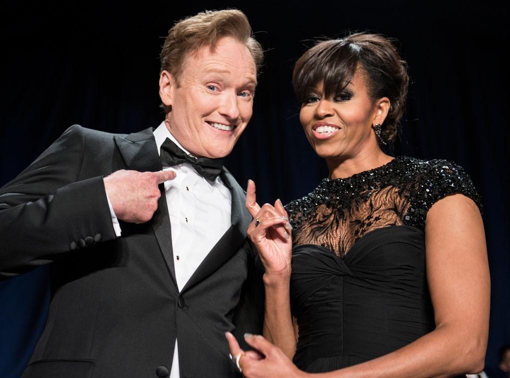 Conan O'Brien, US first lady Michelle Obama