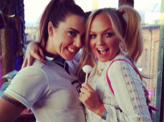 Spice Girls, Emma Bunton, Melanie C, Twit Pic
