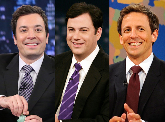 Jimmy Fallon, Jimmy Kimmel, Seth Meyers