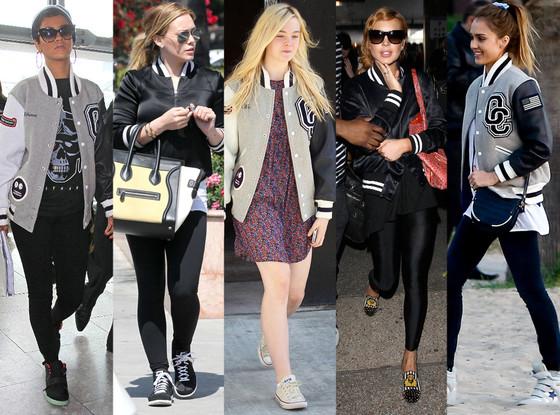 Rihanna, Hilary Duff, Elle Fanning, Lindsay Lohan, Jessica Alba, Varsity Jackets
