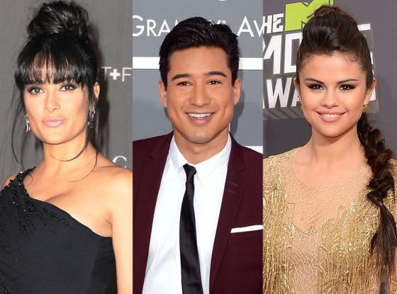 Salma Hayek, Mario Lopez, Selena Gomez