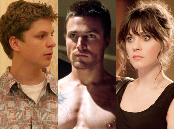 Stephen Amell, Arrow, Zooey Deschanel, New Girl, Michael Cera, Arrested Development