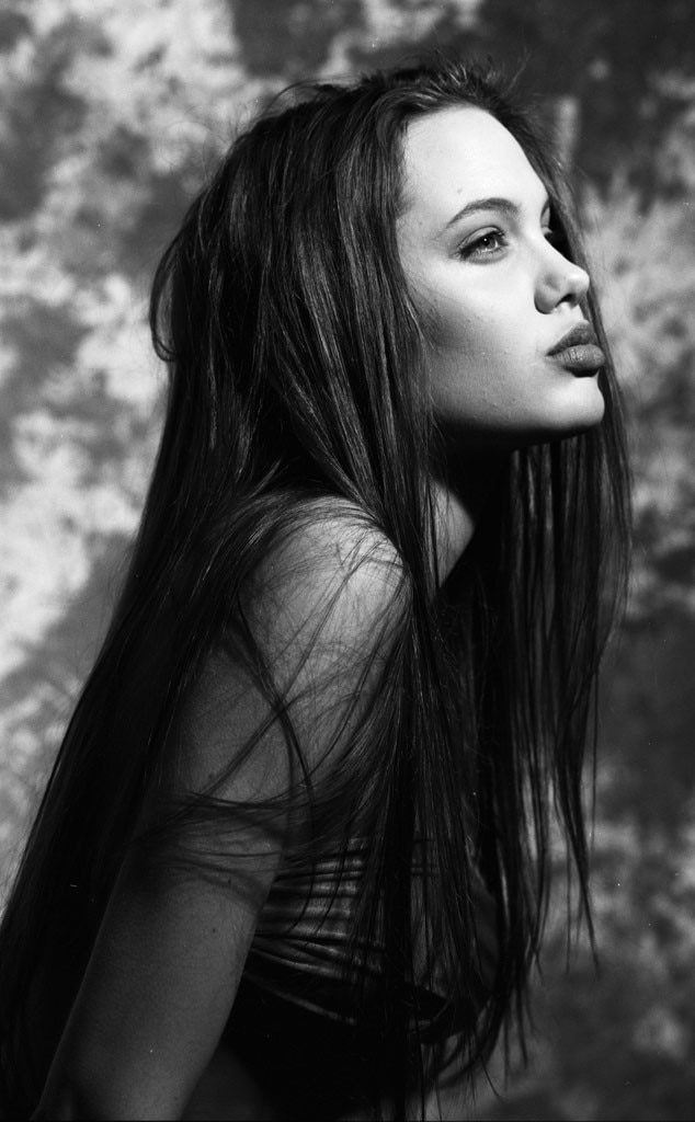 Black  White Beauty From Angelina Jolies Teenage Modeling Pics  E News