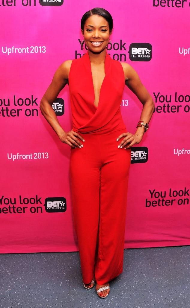 Gabrielle Union, BET Networks 2013 New York Upfront, Jumpsuit