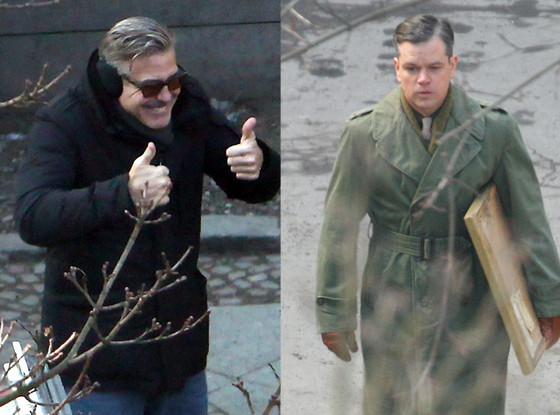 George Clooney, Matt Damon, The Monuments Men