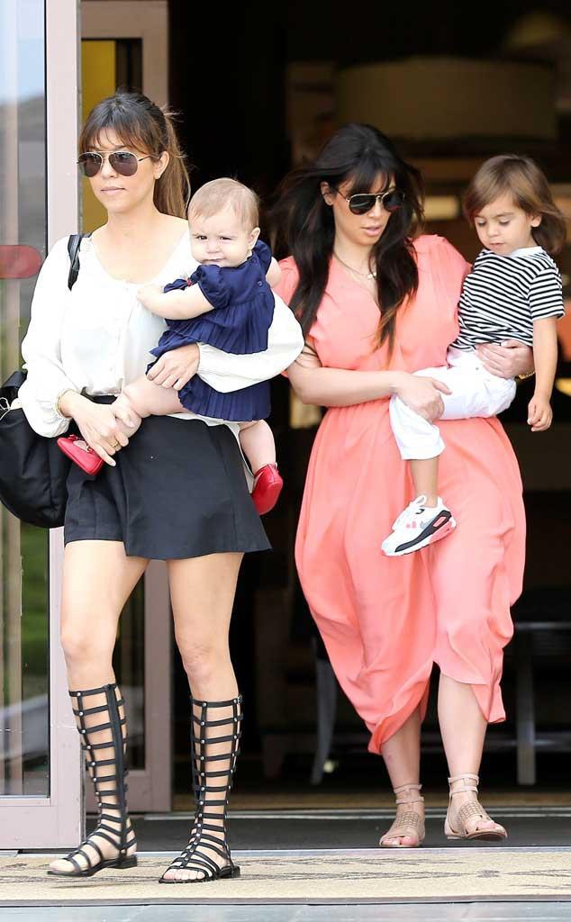 Kourtney Kardashian, Kim Kardashian, Penelope, Mason