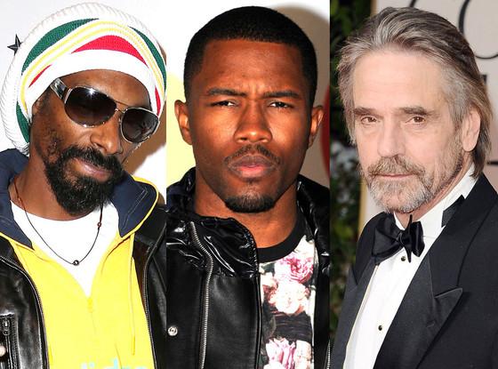 Snoop Dogg, Frank Ocean, Jeremy Irons