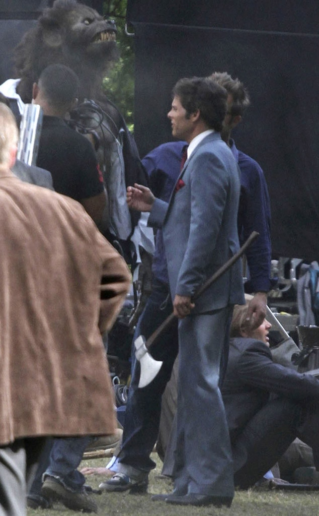 James Marsden, Anchorman 2 set