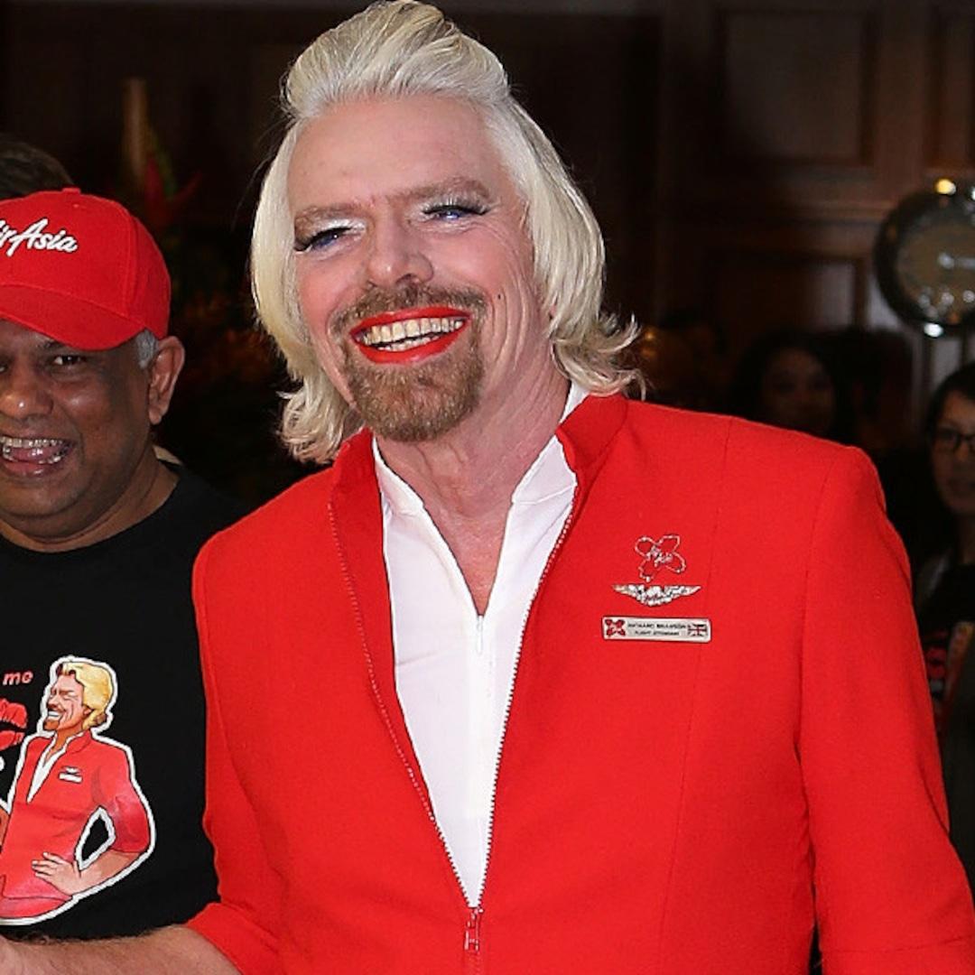 Richard Branson Crossdresser Becomes Female Flight: Richard Branson Dresses In Drag After Losing Bet—See The