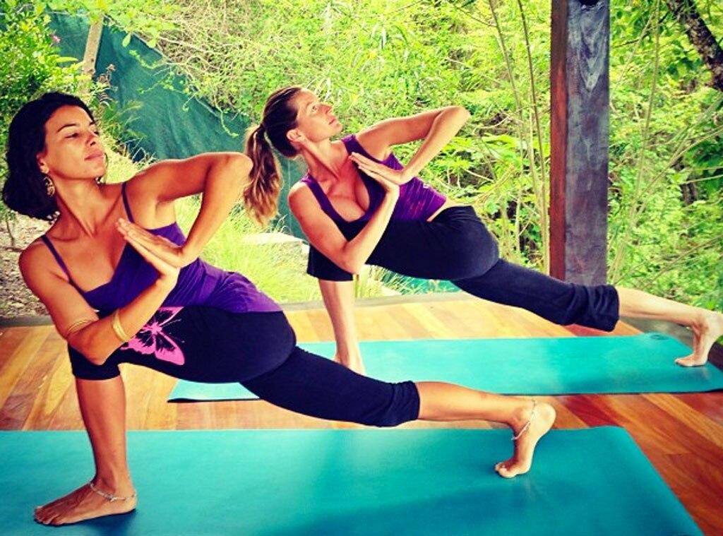 Gisele Bundchen, Instagram, Yoga